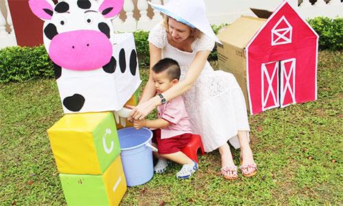"""3Cùng bé khám phá """"Funny Farm"""" tại trường SaiGon Academy"""